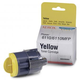 Toner Xerox Phaser 6110, MFP6110, yellow, 106R01204, 1000s, východní Evropa, O