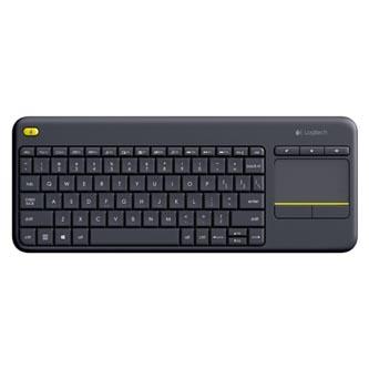 Logitech Klávesnice K400 Plus, AA, multimediální, 2.4 [Ghz], černá, bezdrátová, CZ